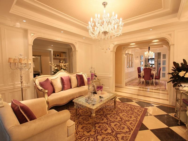 保利香槟国际样板房会客厅图片照片
