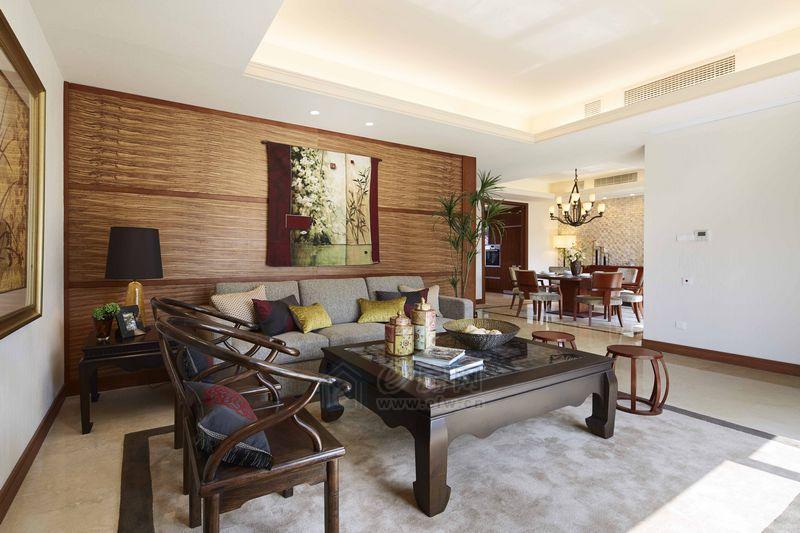 裕沁湖畔庭样板房客厅图片照片