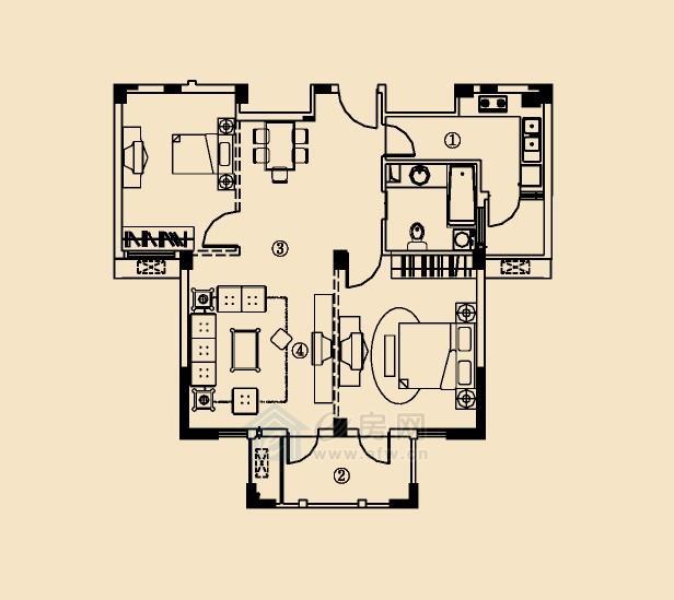 开元云龙谷 2室2厅1卫
