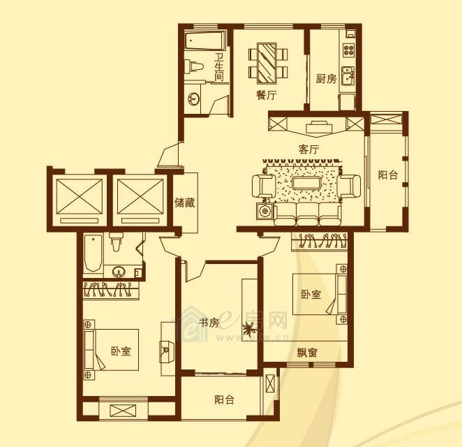 香溪左岸 3室2厅2卫
