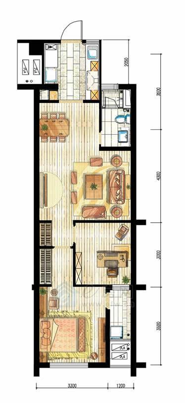 香溪左岸 2室2厅1卫