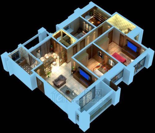 美的城 4室2厅2卫  146�O