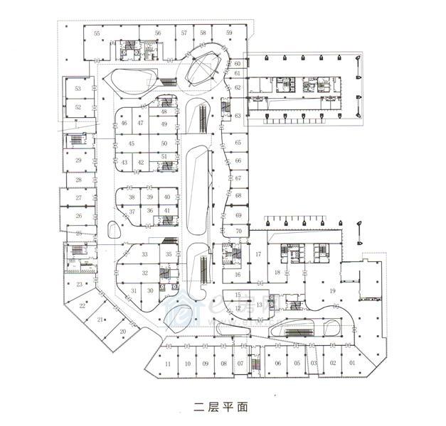 绿地之窗绿地缤纷城 商业2层平面图