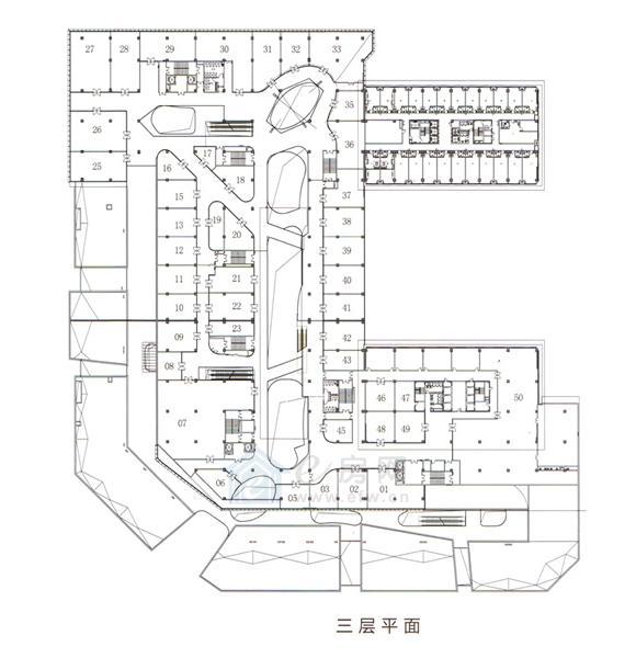 绿地之窗绿地缤纷城 商业3层平面图