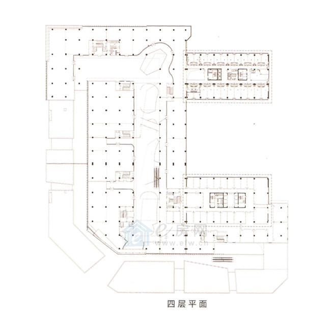 绿地之窗绿地缤纷城 商业4层平面图