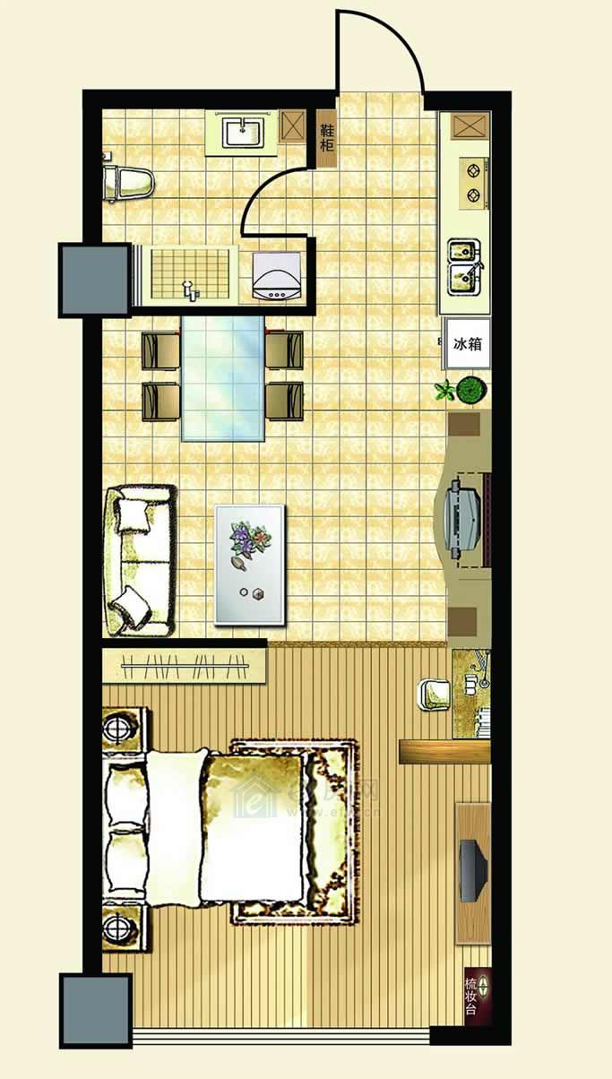 中汉财富湾公寓A户型