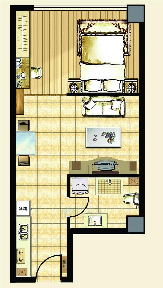中汉财富湾公寓A2户型