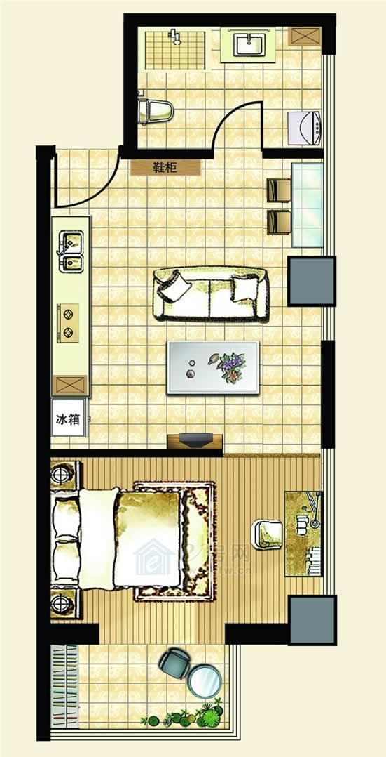 中汉财富湾公寓C户型