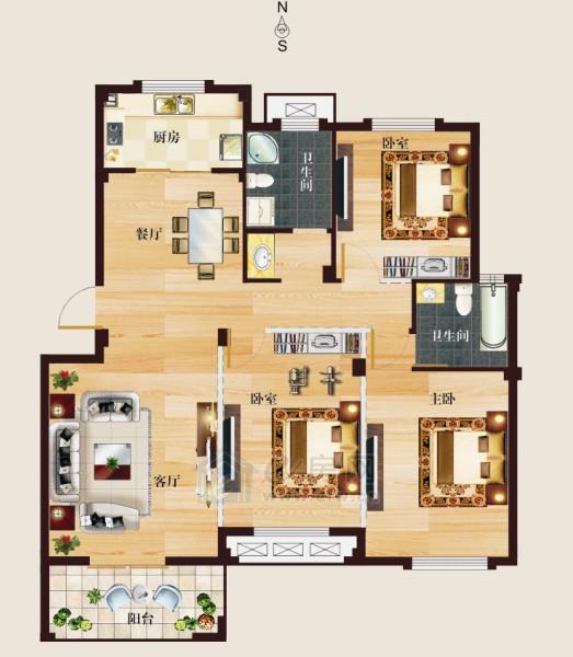 开元云龙谷 3室2厅2卫