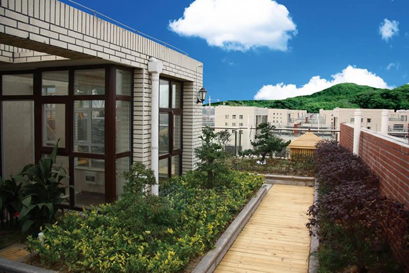 屋顶花园; 楼顶花园 效果图图片分享;