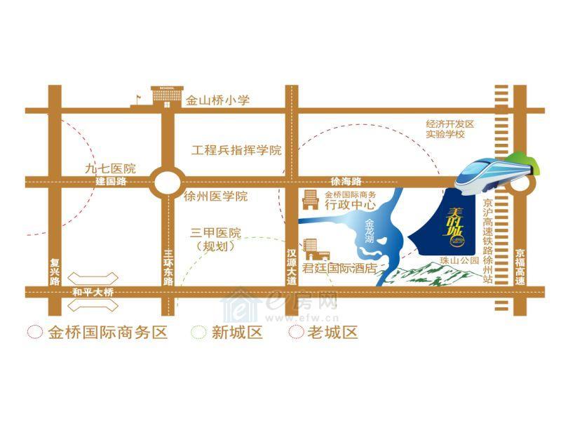 美的城  项目区位图