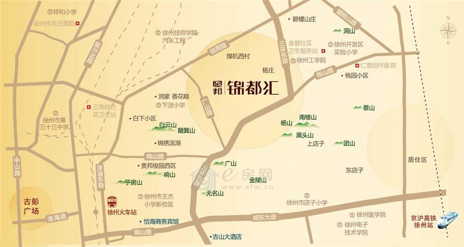 恒邦锦都汇  区位图