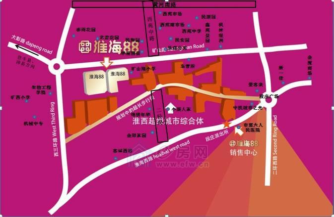 淮海纪念塔地图
