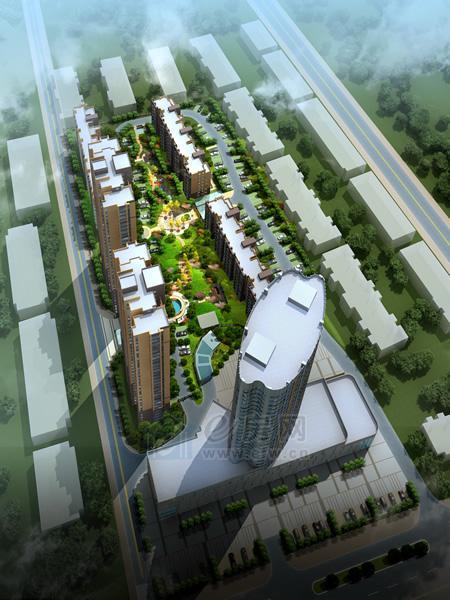 港鑫城 项目园林效果图